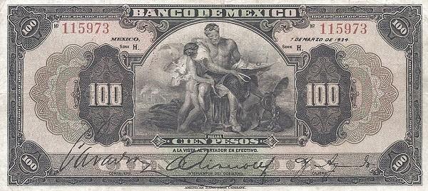 Mexico 100 Pesos (1925-1934 Banco de México)