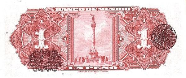 Mexico 1 Peso (1936-1943 Banco de México)