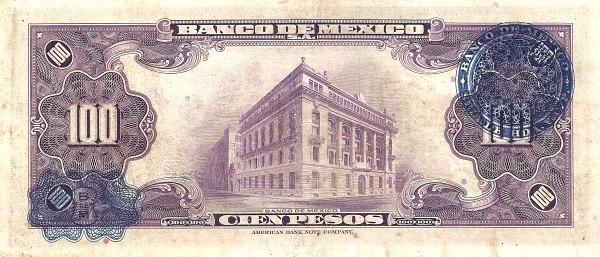 Mexico 100 Pesos (1936-1943 Banco de México)