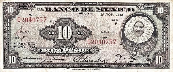 Mexico 10 Pesos (1937-1950 Banco de México)