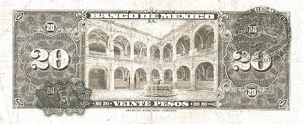 Mexico 20 Pesos (1937-1950 Banco de México)