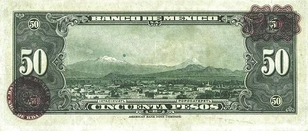 Mexico 50 Pesos (1937-1950 Banco de México)