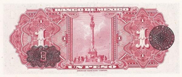 Mexico 1 Peso (1946-1978 Banco de México)