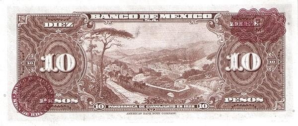 Mexico 10 Pesos (1946-1978 Banco de México)