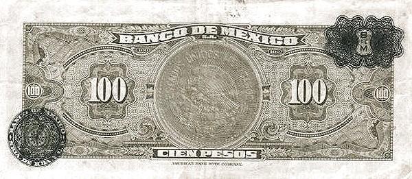 Mexico 100 Pesos (1946-1978 Banco de México)
