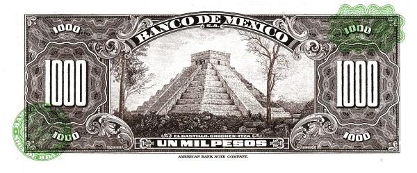 Mexico 1000 Pesos (1946-1978 Banco de México)