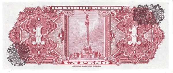Mexico 1 Peso (1953-1967 Banco de México)