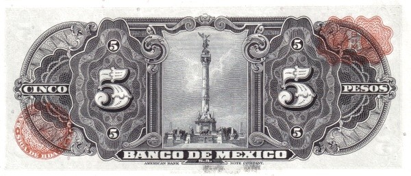 Mexico 5 Pesos (1953-1967 Banco de México)