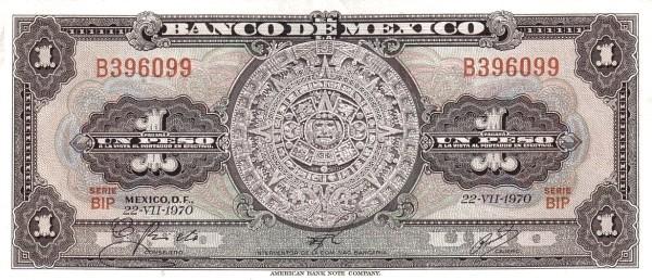 Mexico 1 Peso (1957-1973 Banco de México)