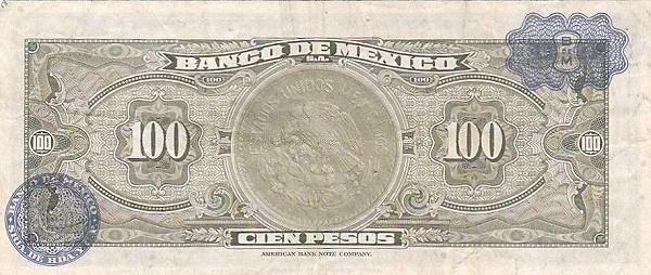 Mexico 100 Pesos (1957-1973 Banco de México)