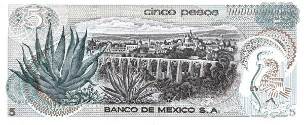Mexico 5 Pesos (1969-1978 Banco de México)