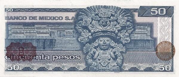 Mexico 50 Pesos (1981-1982  Banco de México)