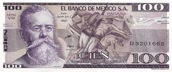 Mexico 100 Pesos (1981-1982  Banco de México)