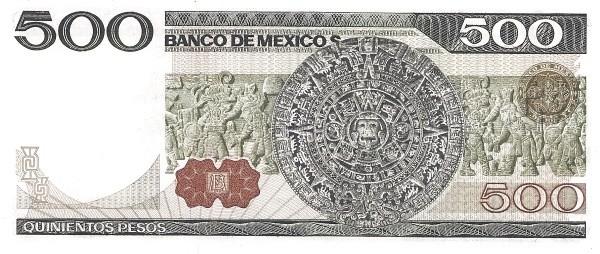 Mexico 500 Pesos (1981-1982  Banco de México)