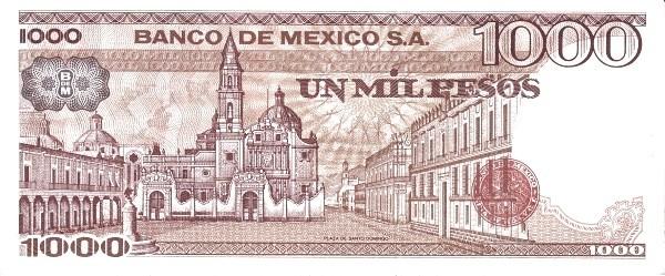 Mexico 1000 Pesos (1981-1982  Banco de México)