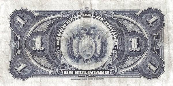 Bolivia 1 Boliviano (1928 Banco Central de Bolivia)