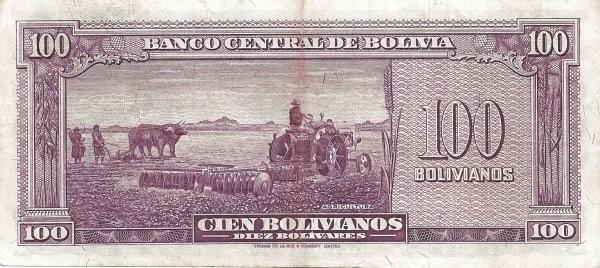 Bolivia 100 Bolivianos (1945 Banco Central de Bolivia)