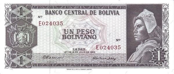 Bolivia 1 Peso Boliviano (1962  Banco Central de Bolivia)