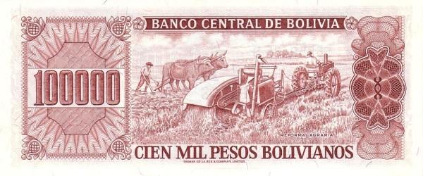 Bolivia 100000 Pesos Bolivianos (1981-1984 Banco Central de Bolivia)
