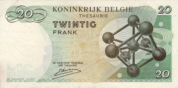 Belgium 20 Francs (1964-1966 Royaume de Belgique - Trésorerie)