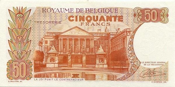 Belgium 50 Francs (1964-1966 Royaume de Belgique - Trésorerie)