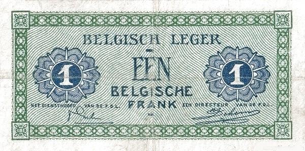 "Belgium 1 Franc (1946 ""Military Payment Certificates"")"
