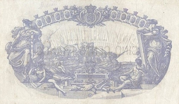 Belgium 500 Francs (1883-1909 Banque Nationale)