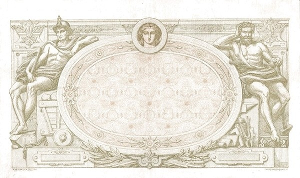 Belgium 1000 Francs (1905-1926  Banque Nationale-2)