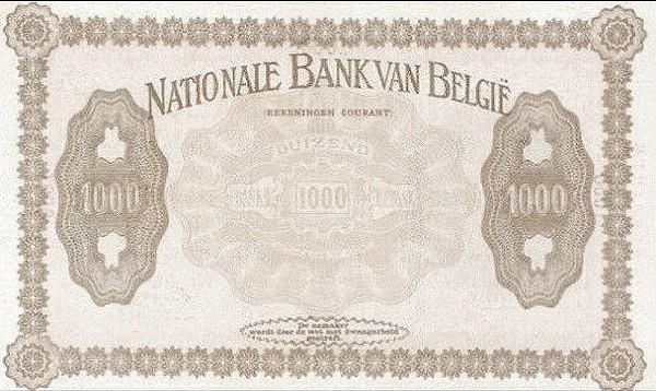 "Belgium 1000 Francs (1914 ""Comptes Courants""-Banque Nationale)"