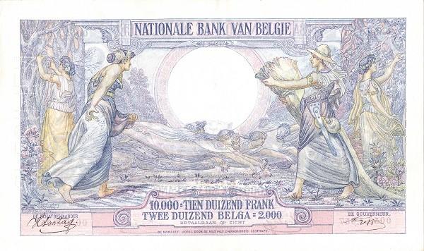 Belgium 10000 Francs (1927-1942 Banque Nationale)