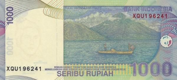 Indonesia 1000 Rupiah (2000-2016)