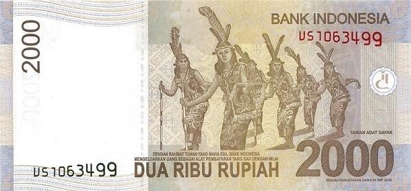 Indonesia 2000 Rupiah (2009-2016)