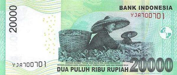 Indonesia 20000 Rupiah (2011-2016)