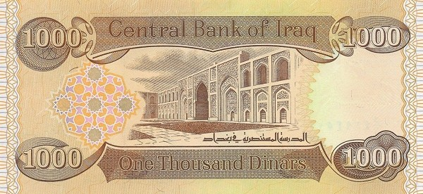 Iraq 1000 Dinars (2018)
