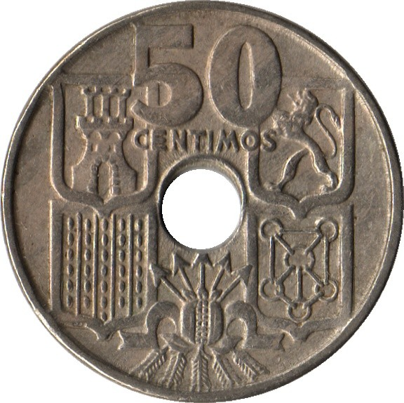 Spain 50 Centimos (1949-1963)