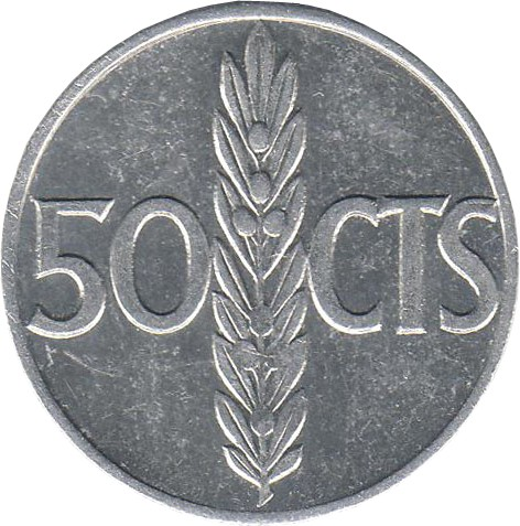 Spain 50 Centimos (1966)