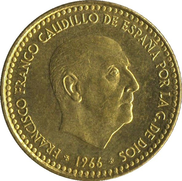 Spain 1 Peseta (1966)