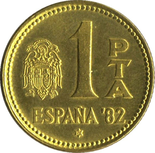 Spain 1 Peseta (1980-1982 FIFA World Cup)