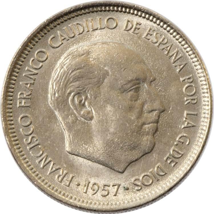 Spain 5 Pesetas (1957)