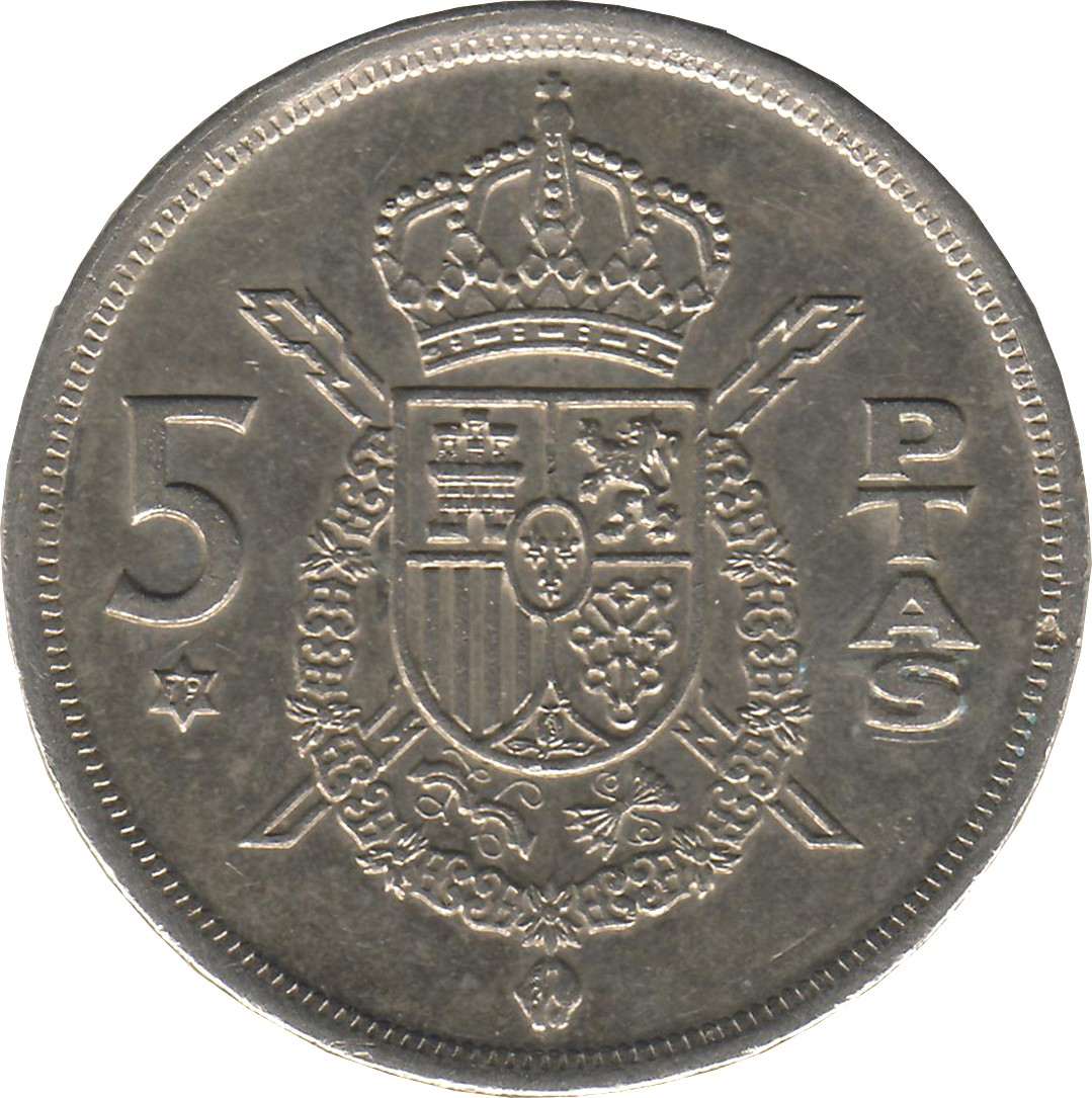 Spain 5 Pesetas (1975)