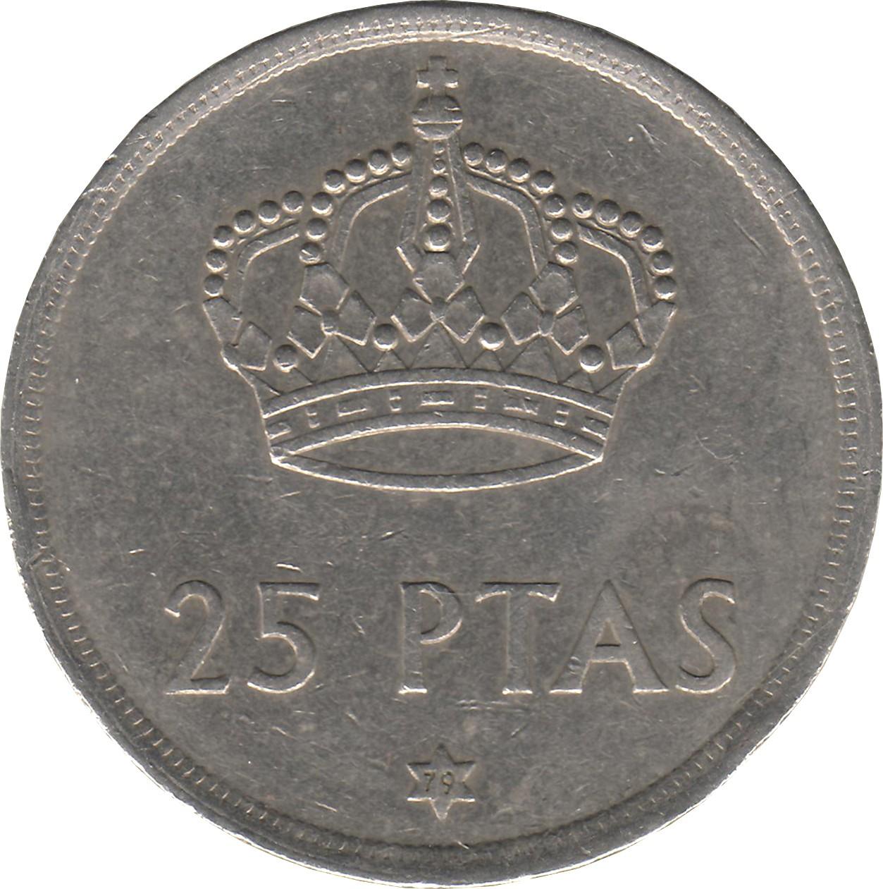 Spain 25 Pesetas (1975)