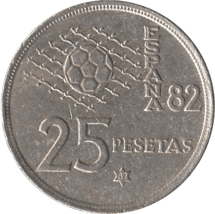 Spain 25 Pesetas (1982 FIFA World Cup)