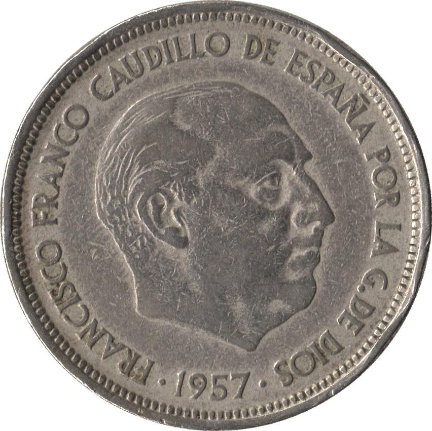 Spain 50 Pesetas (1957-1975)