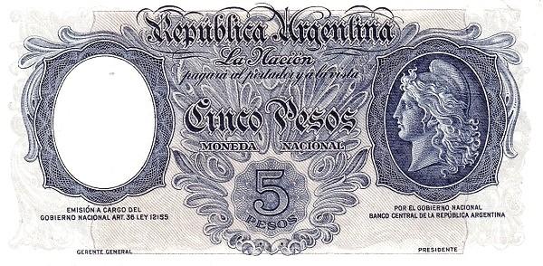 Argentina 5 Pesos (1930)