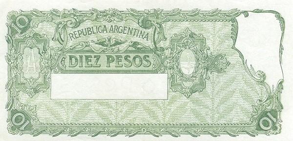 """Argentina 10 Pesos (1936-1946 """"Ley 12.155 / 28.03.1935"""")"""