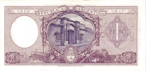 Argentina 1 Peso (1952 Declaration of Economic Independence)