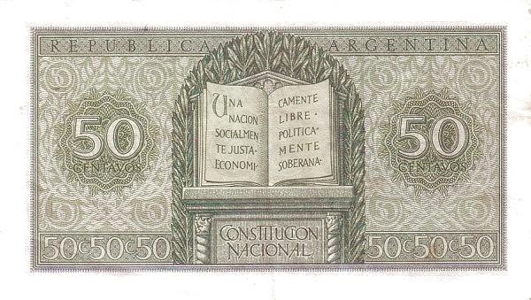 Argentina 50 Centavos (1951 Leyes 12.962 & 13.571)