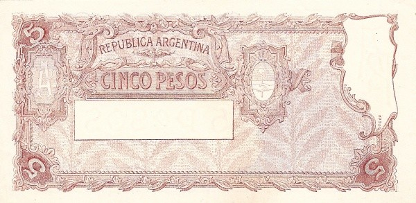 Argentina 5 Pesos (1951 Leyes 12.962 & 13.571)