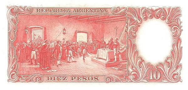 "Argentina 10 Pesos (1942-1957 ""Ley 12.155 / 28.03.1935 - San Martín"")"