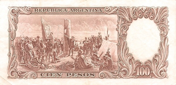 "Argentina 100 Pesos (1942-1957 ""Ley 12.155 / 28.03.1935 - San Martín"")"